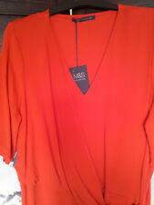 M&S Collection Women's Smart Tops Mat Paprika Size 14