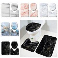 Slip Home Decor Pedestal Rug Bath Mats Toilet Seat Lid Cover Bathroom Mat Set