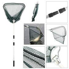 Portable Lightweight Fishing Landing Net Mesh Foldable Handle Telescopic Pole AU