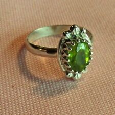 Sterling Silver 925  Handcrafted Natural Peridot Stone Ring skaisSP17