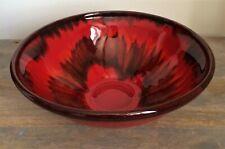 Vintage MCM Danesi Arts Pottery Canada - Large Bowl - Red on Black