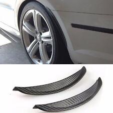 Pair Carbon Texture Diffuser Fender Flares Lip For Mazda Subaru Wheel Wall Panel
