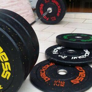 "BlackBull Fitness® Rubber Bumper Weight Plates Hi Temp Grade GYM CROSSFIT 2"""