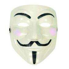 Unisex Anonymous Guy Fawkes Plot Halloween Fancy Dress Mask - Glow In The Dark