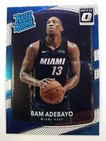 2017-18 Panini Donruss Optic Rated Rookie Bam Adebayo RC #187, Miami Heat