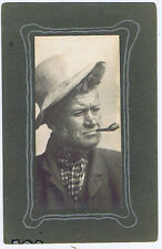Old Man Smoking a Pipe - Vintage Photograph c1920