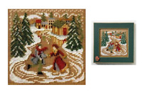 MILL HILL Buttons Beads Kit Counted Cross Stitch SKATING POND MH14-7302