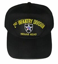 2nd INFANTRY DIVISION VETERAN HAT with INDIAN HEAD and 2ND ID crest cap - BLACK