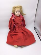Vtg bisque hard doll clothed marked 1894 blue eyes With hair D1