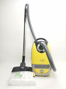 Miele Compact C2 Quartz Limited Powerline Yellow Canister Vacuum w/ Allteq head