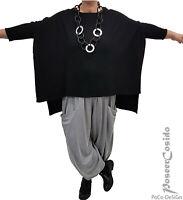 Zwillingsherz LAGENLOOK Pullover Oversize Kaschmir schwarz 44 46 48 50 52 54 56