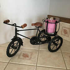 Metal Vintage Antique Style Bicycle Candle Holder Bike Home Decor Display .