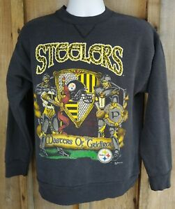 VTG Pittsburgh Steelers Master Of The Gridiron 1991 Men's Large Sweater *READ* M