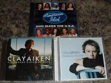 Clay Aiken 3 Cd Lot - Measure of a Man / A Thousand Different Ways / God Bless t