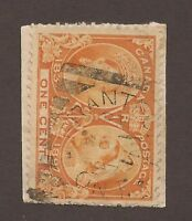 CANADA #51 USED SQUARED CIRCLE CANCEL JUBILEE FULLY DATED ON PIECE