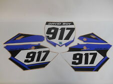 YAMAHA YZF 250 450 YZ250F YZ450F 2014 - 2017 NUMBER GRAPHICS DECALS SIDE PANEL