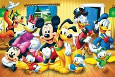 DISNEY GROUP POSTER Mickey Minnie Donald RARE HOT NEW 24x36