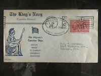 1938 Canada the Kings Navy Cover to Chicago USA