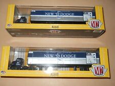 M2 AUTOHAULERS TWO 1957 DODGE 700 COE TRUCKS WITH 1959 TRAILERS 1:64 SCALE