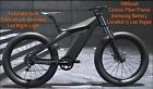 "26"" TRUE 1000W Electric E Bike Fat Tire CARBON FIBER  Bicycle Li-Battery SAMSUNG <br/> Retails for 3990$ on Amazon CARBON FIBER FUTURISTIC !"