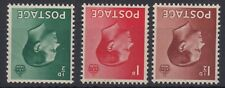 Sg 457i-459i Edward Viii wmk inv set of three Post Office fresh unmounted mint