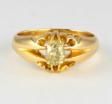 Vintage 18Ct Gold Ring With Solitaire Diamond 0.66 carat