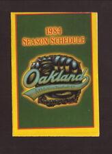 Oakland Athletics--1984 Pocket Schedule--Gerard Tire