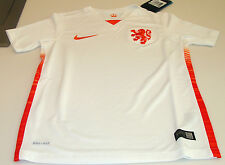 FIFA Netherlands 2015 World Cup Soccer Away Jersey SS M Youth White Dutch