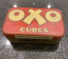 More details for vintage oxo cube tin - antique oxo cube tin - small red tin