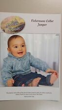 Knitting Pattern #2004 Child's Fishermans Collar Jumper to Make Signac Sock Yarn