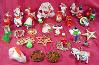Vintage Christmas Tree Ornaments Assorted Large Lot 34 Santa Soldiers Collection