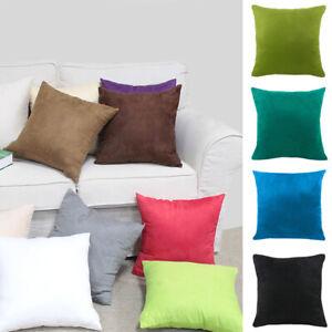Square Car Cushion Cover Suede Fabric Pillowcase Bedroom Sofa Pillow Case C2UK