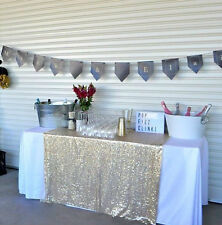 Sparkly Champagne Gold Sequin Glamorous Cloth Fabric/Tablecloth For Event Table