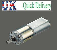 12V DC Motor,Planetary Gearbox Speed Control,Low 40 RPM,12mm shaft, 22mm gearbox