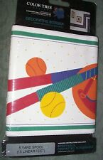 Sports Theme Room Wall Paper Border 5 yds 15ft By Eisenhart