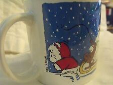 Dayton Hudson Santa Bear Mug 1989 Santa Bears on Sled, New