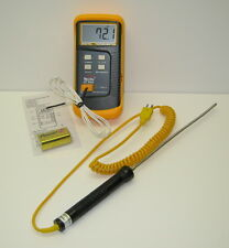 "Digital K-type Asphalt Thermometer and Sturdy 8"" Stainless Steel Probe SS304 TC4"