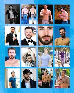 """Collage featuring Capt. AMERICA - Chris Evans 8""""x10"""" Photo - Frameable (Gay Int)"""