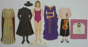 Kelly McIntyre Jones #44 American Girl Magazine Cut Paper Doll 4 Outfits & Book
