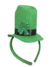 St. Patrick's Day Green Shamrock Top Hat Felt Headband Costume Accessory