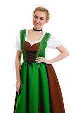 Womens Bavarian Beer Girl Costume S -  XL Ladies Lederhosen Drindl Fancy Dress