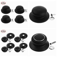 4Pc Universal Lid Cover Knob Handle for Cookware Pot Pan Plastic Cap Replacement