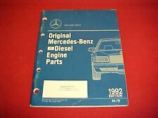 1980's 1992 ORIGINAL MERCEDES 190 240 300 DIESEL ENGINE NOS PARTS BOOK CATALOG