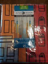 "InterDesign Metropolitan Shower Curtain, 72"" x 72"", New"