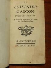 BOURBON - Le cuisinier gascon Lettre du Pâtissier Anglais 1747 CUISINE RARE