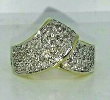 Gold Diamond Right Hand Ring Size7.5 1cttw Round Brilliant Cut 10kt Yellow