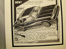 1981 Plymouth Reliant K Car  Auto Pen Ink Hand Drawn  Poster Automotive Museum