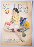 Alte Papiertüte Schmidtsche Wolle Altenburg Lux Seife Laden Deko 1930er Reklame