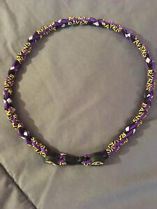 "BALTIMORE RAVENS Purple 22"" Titanium Double Rope NECKLACE NEW! FAST!"