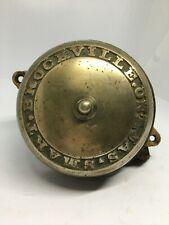 Antique Jas. Smart Brockville Cast Brass Factory Bell